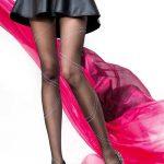 Külotlu Corap Modelleri Siyah Gri Kısa Çizgi Desenli