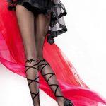 Külotlu Corap Modelleri Siyah Çapraz Şeritli