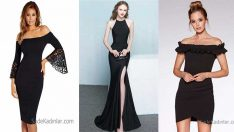 Siyah Elbise Uzun Kısa Abiye 2018 Ünlü Markaların Gece Elbiseleri