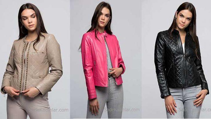Son Moda Deri Mont ve Bayan Deri Ceket Modelleri 2018 – 2019