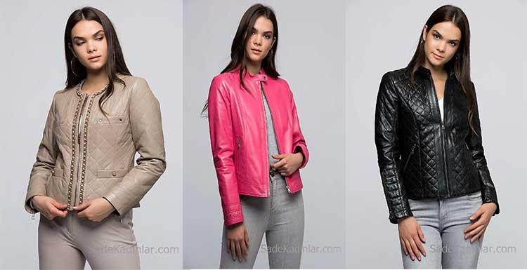 Son Moda Deri Mont ve Bayan Deri Ceket Modelleri 2018 - 2019