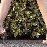 Stiletto Ayakkabı Modelleri Gold Topuklu Bilekten Çapraz Bağlamalı
