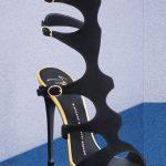 Stiletto Ayakkabı Modelleri Siyah Topuklu Baklava Dilimli
