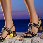 Stiletto Ayakkabı Modelleri Siyah Topuklu Komple Taş Süslü