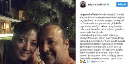 Tolga Çevik'in Eşine Aşk Mesajı Sosyal Medyayı Salladı!