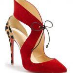 Topuklu Ayakkabı Modelleri Kırmızı Arkası Açık