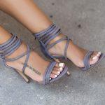 Topuklu Ayakkabı Modelleri Lila Kablo Kemerli