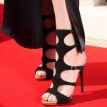 Topuklu Ayakkabı Modelleri Siyah Kemerli