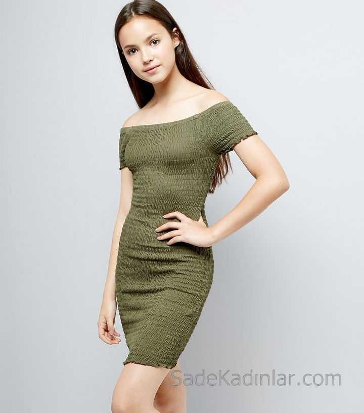 2020 Çocuk Abiye Elbise Yeşil Straplez Kısa Bürümcük Kız Çocuk Elbise