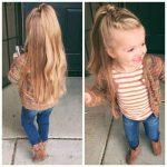 Çocuk Saç Modelleri Salık Önden Yarım Toplanmış