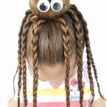 Çocuk Saç Modelleri Örgü Ahtapot Topuz
