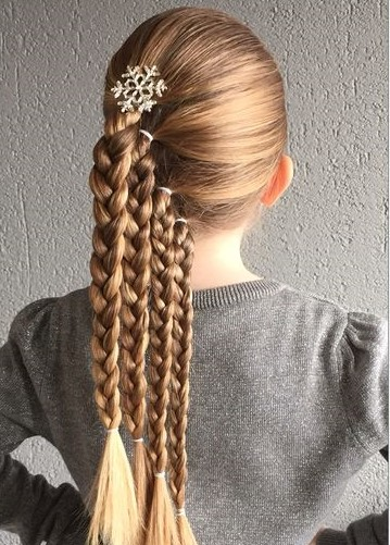 Çocuk Saç Modelleri Örgü Dörtlü