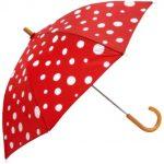 Şemsiye Modelleri Kırmızı Beyaz Puantiyeli