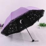 Şemsiye Modelleri Lila Galaksi Desenli