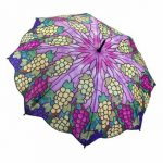 Şemsiye Modelleri Mor Üzüm Desenli
