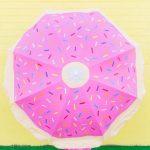 Şemsiye Modelleri Pembe Küçük Renkli Kağıt Desenli