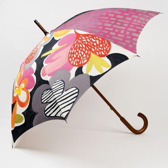 Şemsiye Modelleri Rengarenk Karışık Desenli