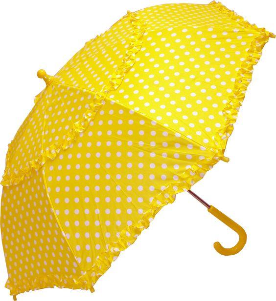 Şemsiye Modelleri Sarı Kenarları Fırfırlı