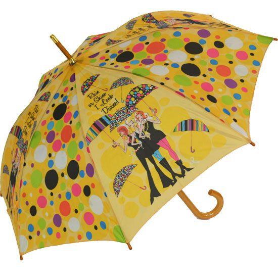 Şemsiye Modelleri Sarı İnsan Figürlü