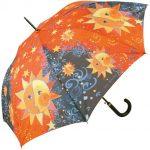Şemsiye Modelleri Siyah Güneş Baskılı