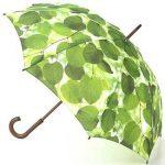 Şemsiye Modelleri Yeşil Yaprak Desenli