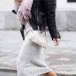 2021 Kış Modası İçin Bayan Spor Kombinler Bej Elbise Siyah Ceket