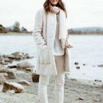2021 Kış Modası İçin Bayan Spor Kombinler Bej Pantolon KAzak Ve Kaban