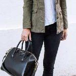 2020 Kış Modası İçin Bayan Spor Kombinler Siyah Pantolon Yeşil Ceket