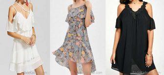 2018 Şifon Kısa Elbise Modelleri Stili İle Dikkatleri Üzerinde Topluyor!