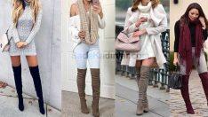 Dizüstü Çizme Modelleri İle Mükemmel 2018 Kış Kombinleri