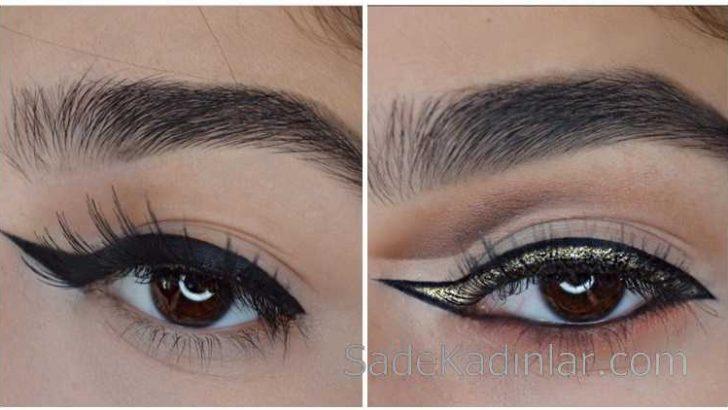 Eyeliner'da Son Moda Trendi Ters kuyruklu Eyeliner!