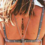 Küçük Dövme Modelleri Tattoo Geometrik Şekilli Sırt Dövmeleri