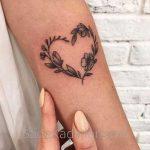 Küçük Dövme Modelleri Tattoo Çiçekli Kalp Figürlü Kol Dövmeleri