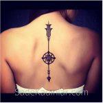 Küçük Dövme Modelleri Tattoo Şekilli Ok Figürlü Sırt Dövmeleri