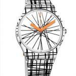 Swatch Saat Modelleri Beyaz Kordonlu Siyah Çizgili