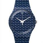 Swatch Saat Modelleri Lacivert Kordonlu Puantiyeli
