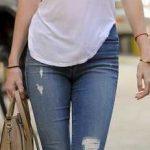 2019 Günlük Kombinler Mavi Kot Pantolon Pembe Askılı Bluz