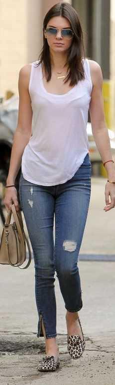 2018 Günlük Kombinler Mavi Kot Pantolon Pembe Askılı Bluz