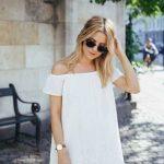 2019 Yazlık Elbise Modelleri Beyaz Kısa Straplez Düşük Kollu Etekleri İşlemeli Elbise