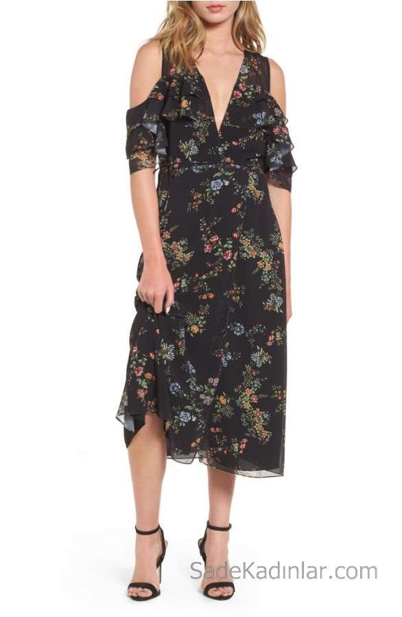 2019-2019 İlkbahar Yaz: Omzu (Açık) Dekolteli Elbise Modelleri 52