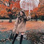 Bayanlar İçin Günlük Kış Kombinleri Kahverengi Kısa Boğazlı Salaş Elbise