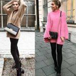 Bayanlar İçin Günlük Kış Kombinleri Siyah Pantolon Kahverengi Salaş Kazak