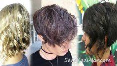 2018 Dalgalı Kısa Saç Kesim Modelleri ve En Güzel Saç Renkleri