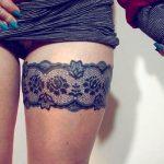 2020 Dövme Modelleri Jartiyer Biçimli Bacak Dövmeleri Tattoo