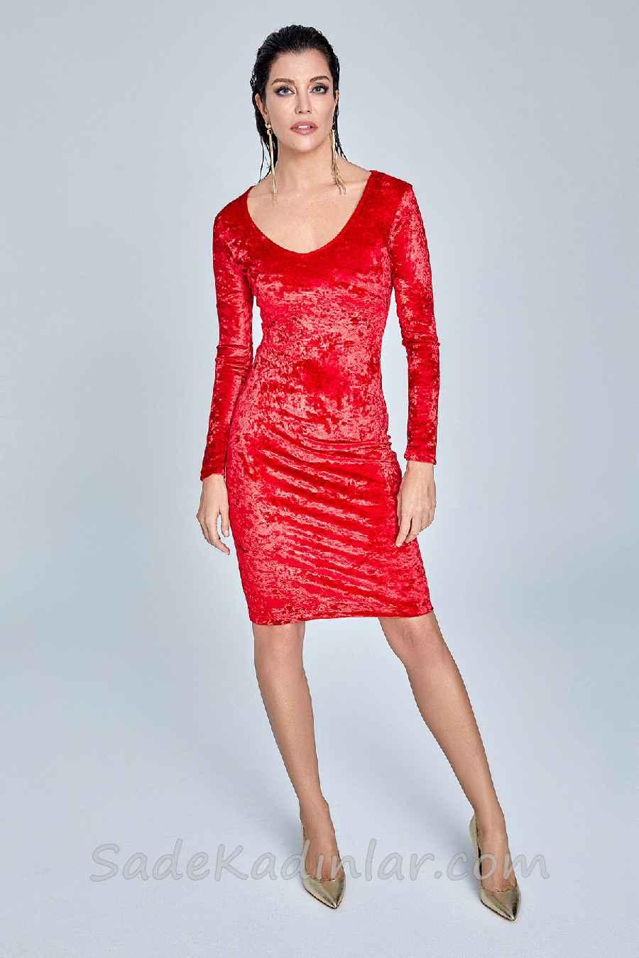 d05fd8477365a Trendyol'da Şık Kombinler, Kırmızı Diz boyu Geniş Yakalı ... - photo.  trendyol - photo#10. prestijli Raisa&Vanessa for Trendyol sonia siyah Elbise  .