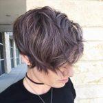 Kısa Saç Modelleri kısa dalgalı saç kesimleri metallic pixie