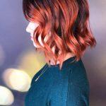 Kısa Saç Modelleri kısa dalgalı saç kesimleri short wavy haircut copper red
