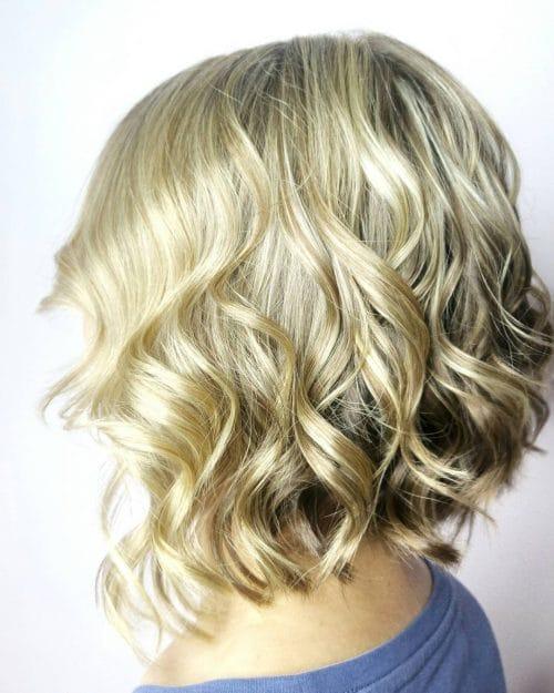Kısa Saç Modelleri kısa dalgalı saç kesimleri wavy aline bob