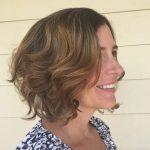 Kısa Saç Modelleri kısa dalgalı saç kesimleri wavy layered aline bob