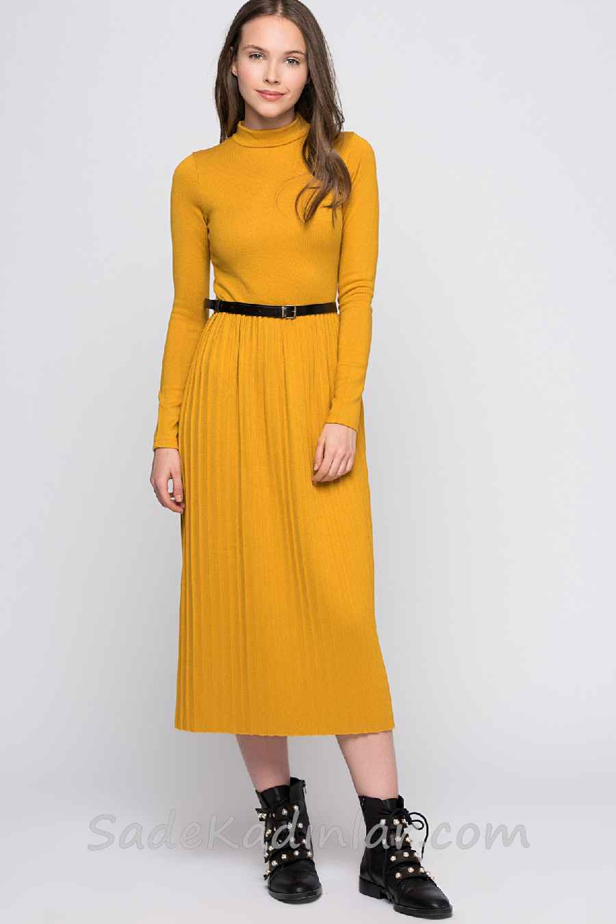Triko elbise modelleri 2019
